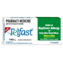 Telfast 180mg Tablets 30