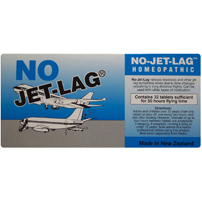 No Jet Lag Homeopathic Tablets 30