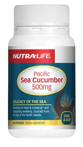 Nutra-Life Sea Cucumber 500mg 60cap