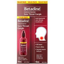 Betadine Sore Throat Gargle Concentrate 40ml