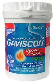 Gaviscon Double Strength Tabs - Peppermint 60