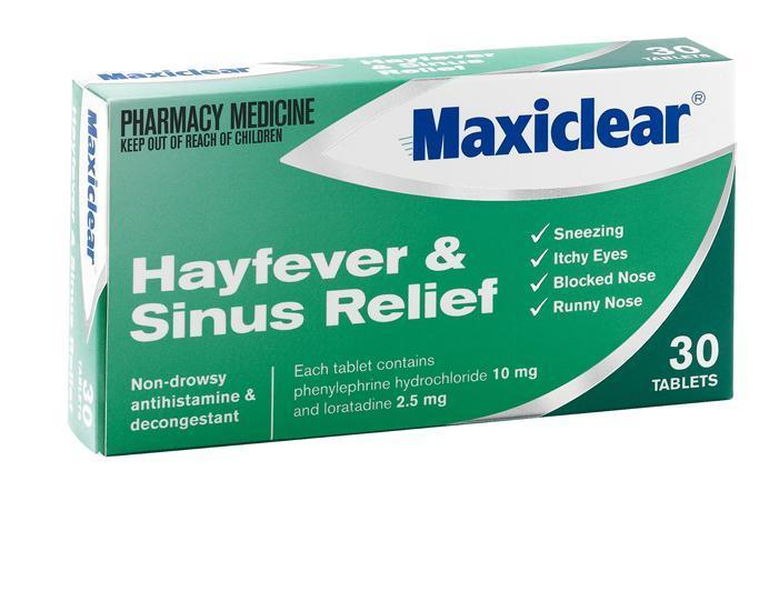Maxiclear - Hayfever & Sinus Relief 30