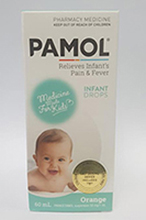 Pamol Paediatric Drops, Colour Free, 50mg in 1 ml Suspension