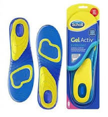 SCHOLL Gel Active Everyday Women Insoles Fits Shoe Size 6-9