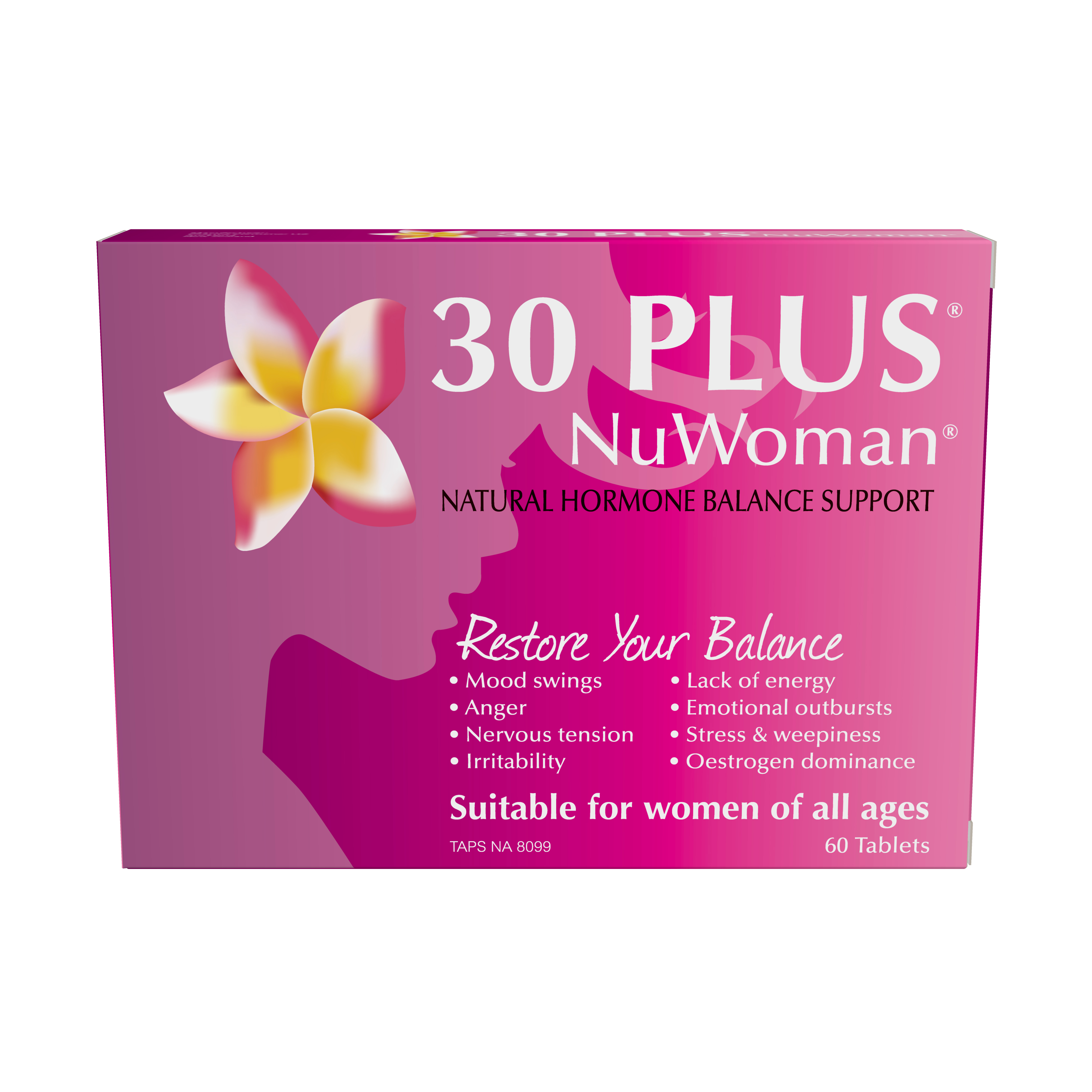 30 PLUS NuWoman Natural Hormone Balance Support 120 Tablets