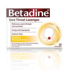 BETADINE Sore Throat Lozenges Honey & Lemon 16 (Expires 03/21)