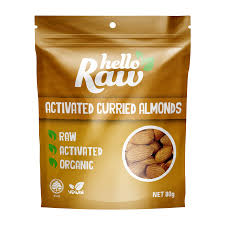 Hello Raw Curried Almonds 80g