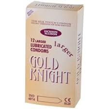 Gold Knight Larger Condoms 12