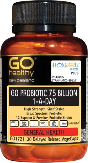 GO Healthy Probiotic 75 Billion Twin Pack 2x30cap