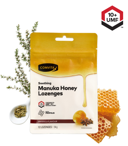 Comvita Manuka Honey With Propolis 12 Lozenges Aniseed