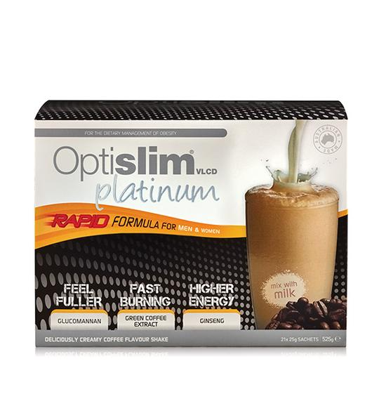 Optislim VLCD Platinum Shake Coffee 21x25g