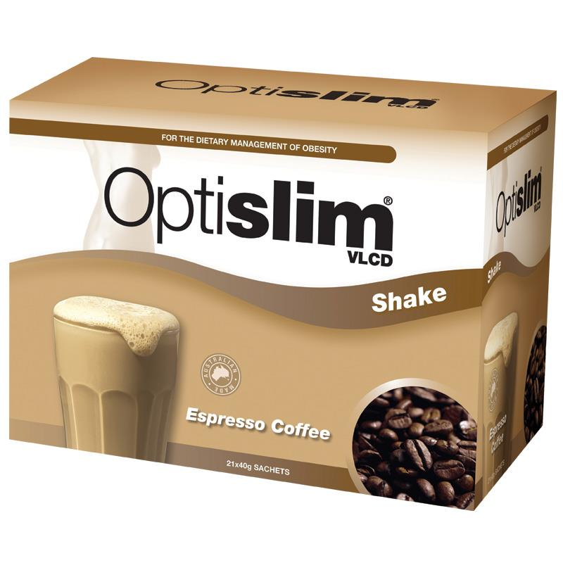 Optislim VLCD Meal Replacement Shake Espresso 21x40g