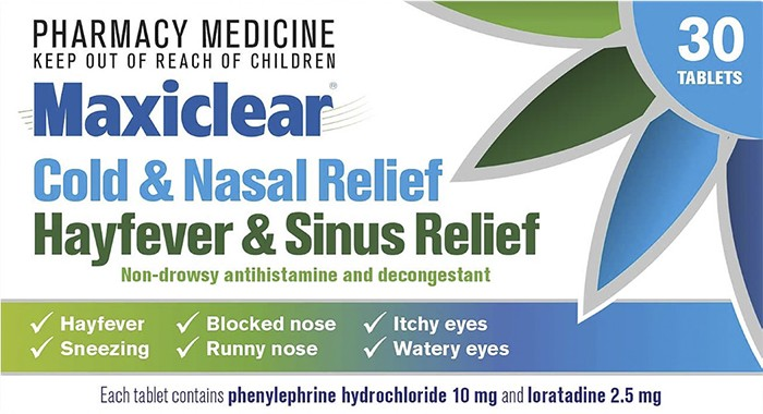 MAXICLEAR Cold & Nasal HayFever &Sinus 30