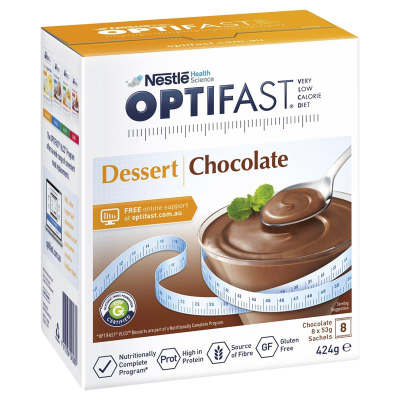OPTIFAST VLCD Dessert Choc. 8x53g