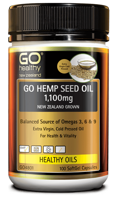 GO Healthy Hemp Seed Oil 1100mg 100 Caps