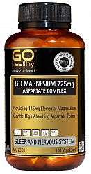 GO Healthy Magnesium 725mg Aspartate Comp. 100 Vege Caps