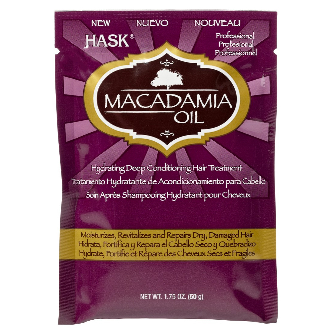 HASK Macadamia Oil Treatment Sachet 50g