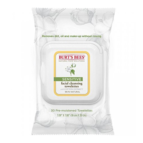 BURTS Bees Sensitive Facial Cleansing Wipes 30