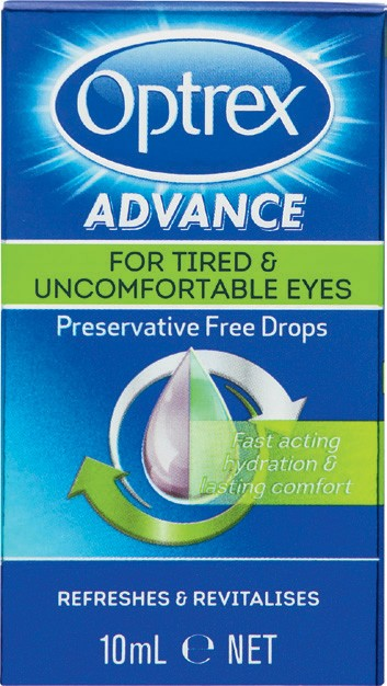 OPTREX Advance Tired Eye Drops 10ml Preservative Free