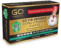 Go Healthy Vir Defence Rapid Extra Strength 30 Caps LIMIT 1 PER CUSTOMER