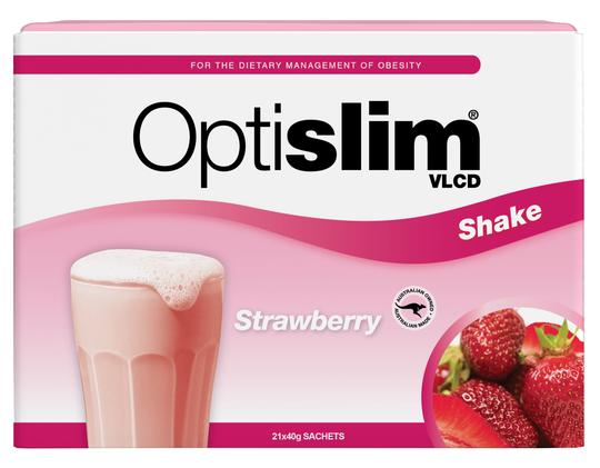 Optislim VLCD Meal Replacement Shake Strawberry 21x40g