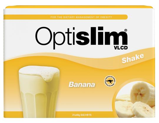 Optislim VLCD Meal Replacement Shake Banana 21x40g