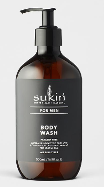 Sukin Men Body Wash 500ml