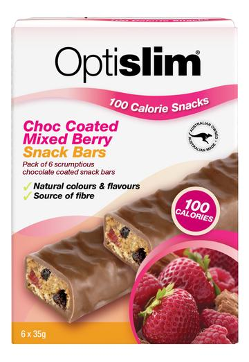 Optislim Snack Bar Choc Coated Mixed Berry 6x35g