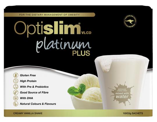 Optislim VLCD Meal Replacement Shake Platinum Plus  Vanilla 53g