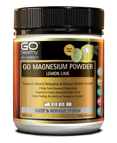 GO Healthy Magnesium Powder Lemon & Lime 250g