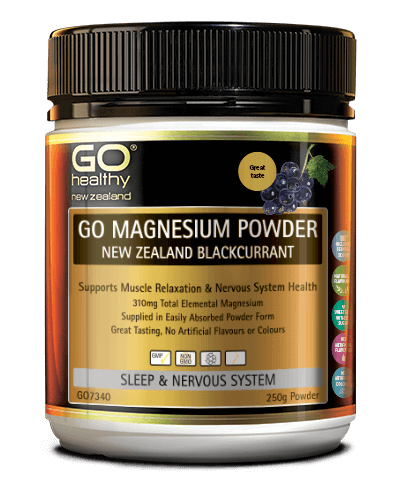 GO Healthy Magnesium Powder NZ Blackcurrant 250g
