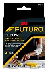 Futuro Elbow Comfort Support With Pressure Pads - Large
