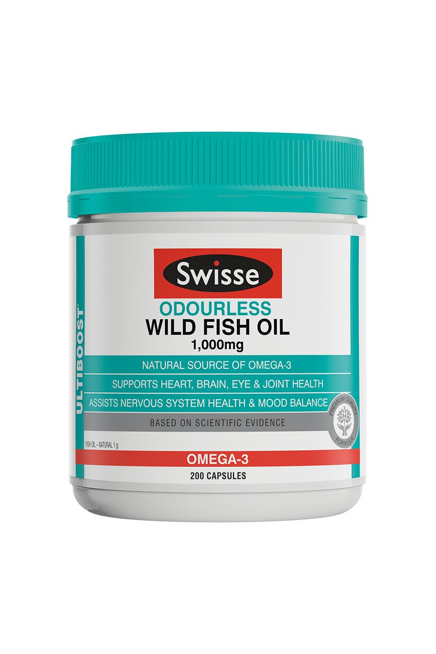SWISSE UB Wild Fish Oil 1000mg Odourless 200caps