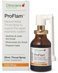 Clinicians Pro Flam Throat Spray 20ml