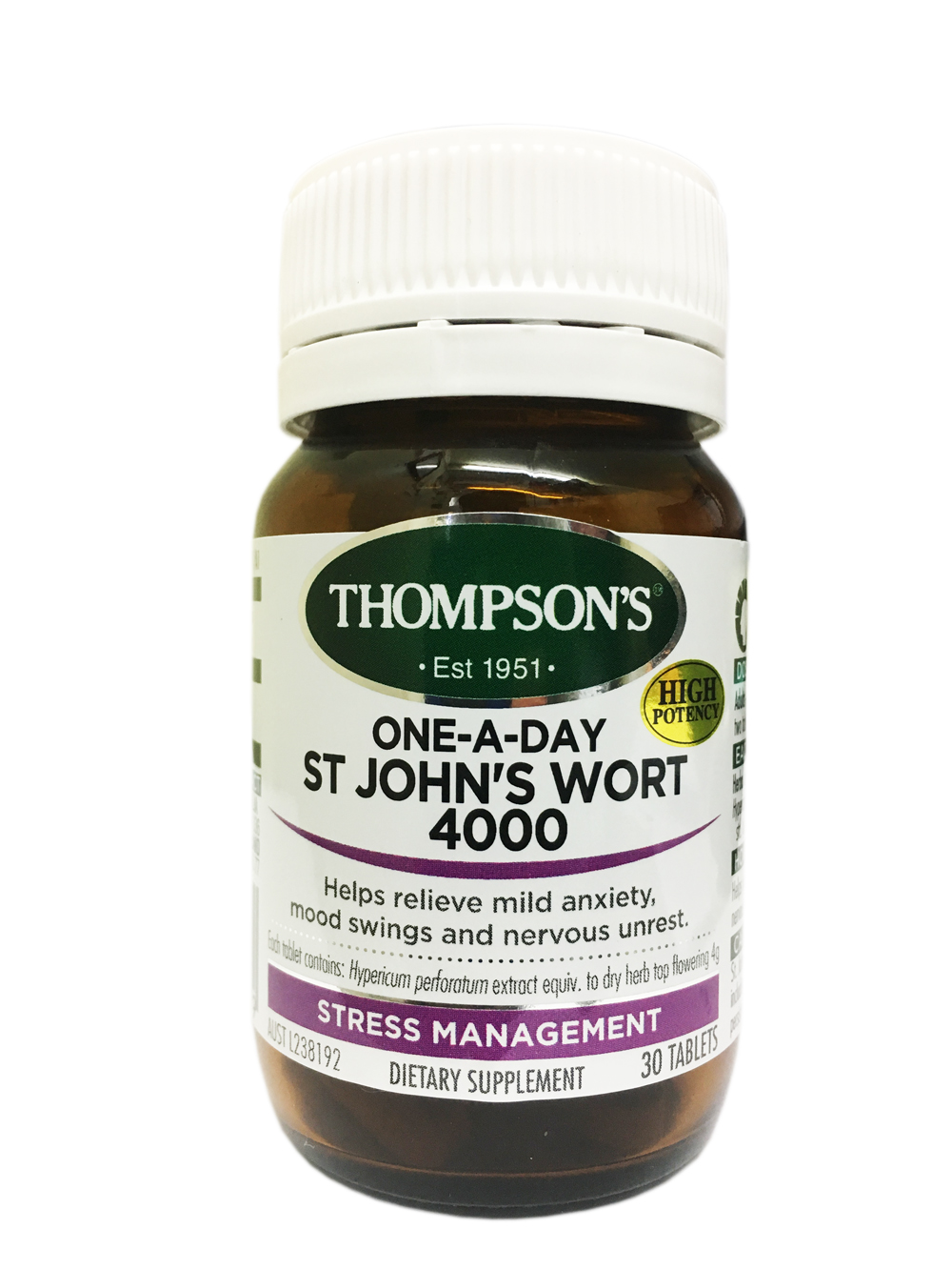Thompsons One-A-Day St Johns Wort 4000 30 tab