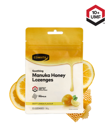 Comvita Manuka Honey With Propolis 12 Lozenges Lemon & Honey