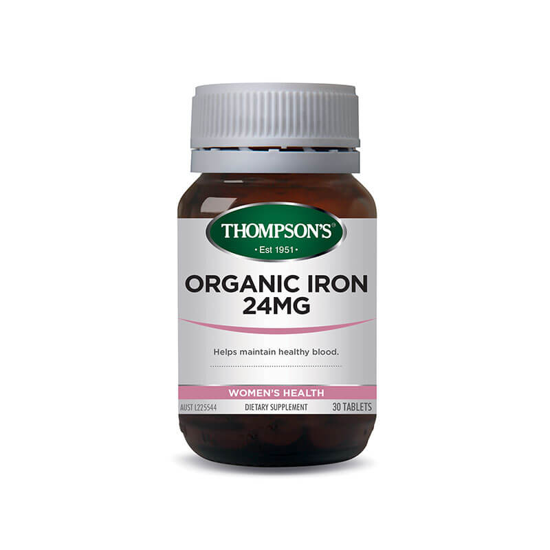 Thompsons Mineral Organic Iron Comp 24mg 30tabs
