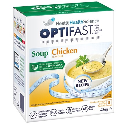 Optifast VLCD  - Chicken Soup, 8x54g Sachets