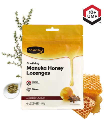 Comvita Manuka Honey With Propolis 40 Lozenges Aniseed