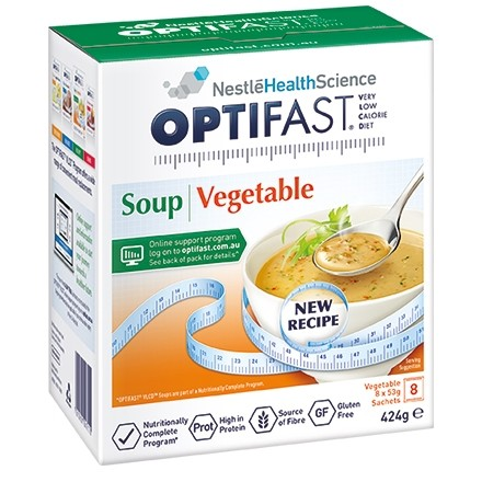 Optifast  Mixed Vegetable Soup, 8x54g Sachets