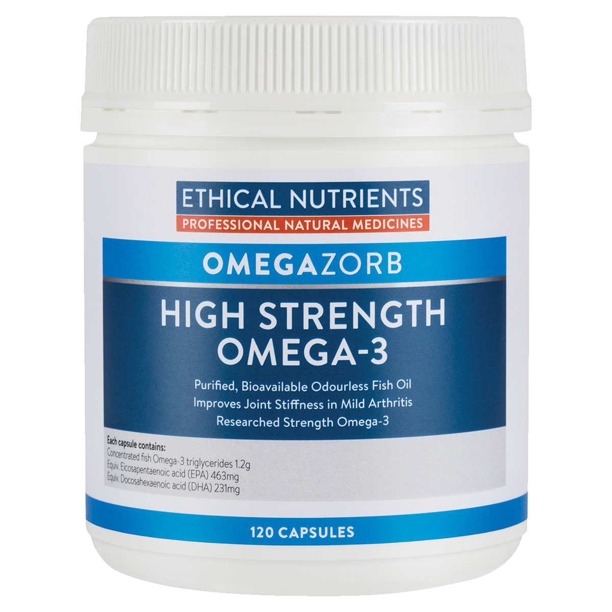 Ethical Nutrients Hi-Strength Fish Oil 120 Caps