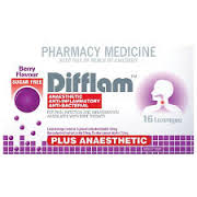 DIFFLAM Sugar Free Lozenges Plus Anaesthetic Berry 16s