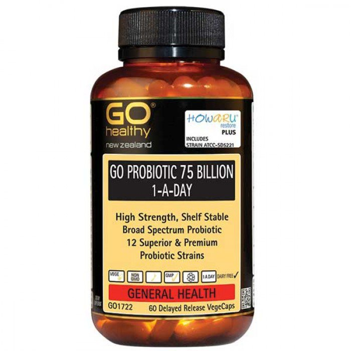 GO Healthy Probiotic 75 Billion 60vcaps