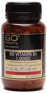 Go Healthy Vitamin D3 1,000iu 90 caps