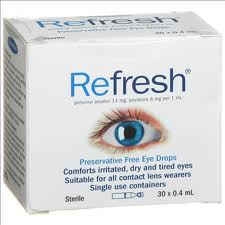 Refresh Preservative Free Eye Drops Single Use Containers 30 x 0.4mL