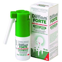 DIFFLAM FORTE THROAT SPRAY Sugar Free 15ml