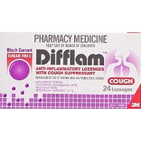 Difflam Cough Lozenge Sugar Free Black Currant 24