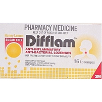 Difflam Sugar Free Lozenge Honey/Lemon 16
