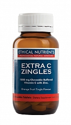 Ethical Nutrients Extra C Zingles Orange 50 Chewable tabs